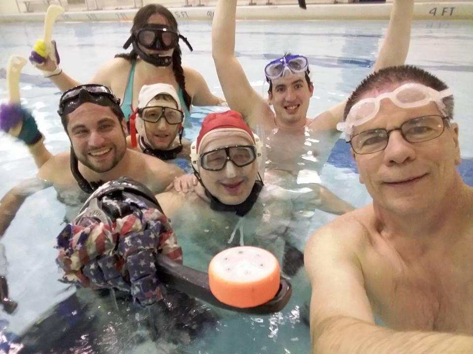 Underwater Hockey at Obama