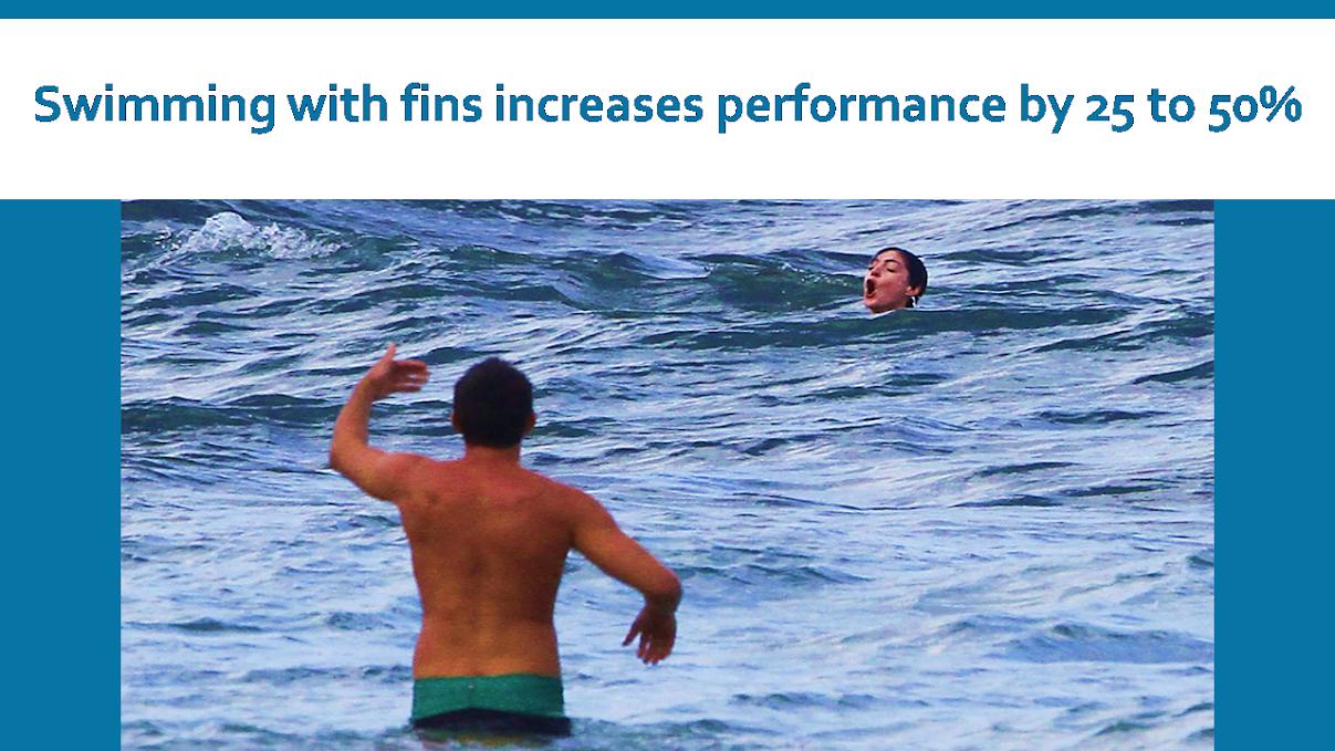 Swim fins help swimmers