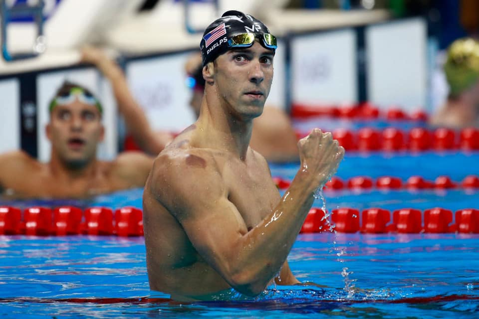 Phelps gives fist pump