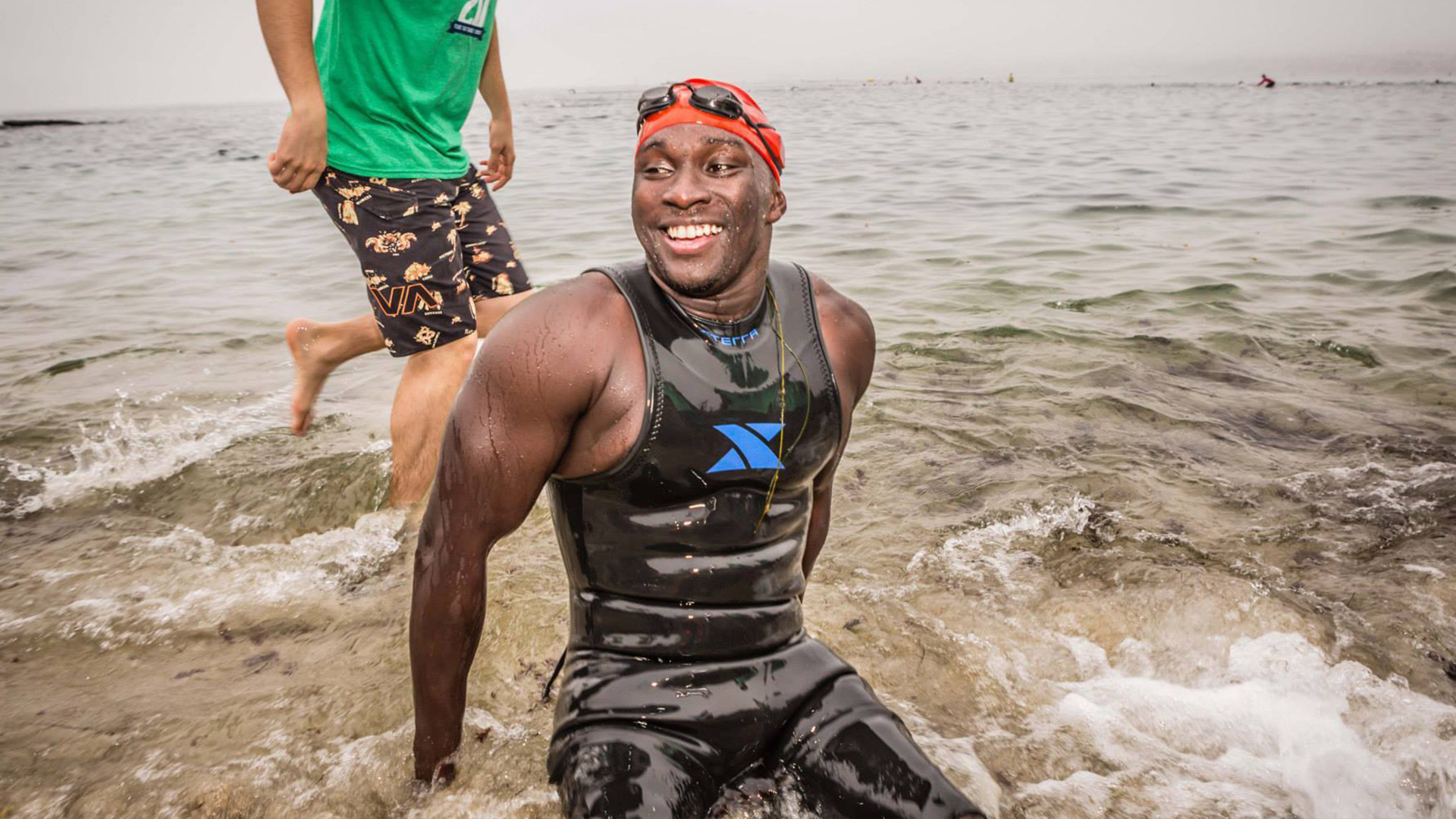 Roderick in photo from Challenged Athlete Foundation