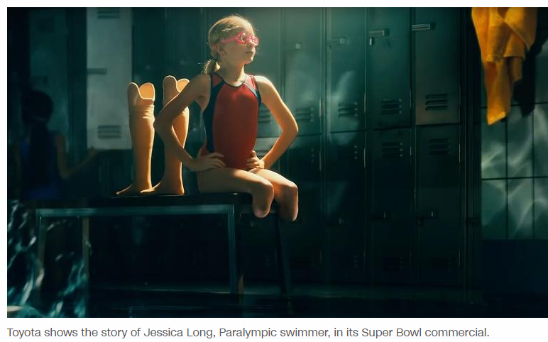 Super Bowl Ad features a para swimmer