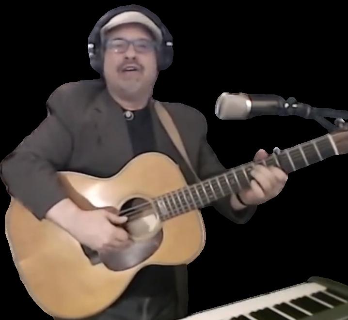 Dave w guitar-on-livestream
