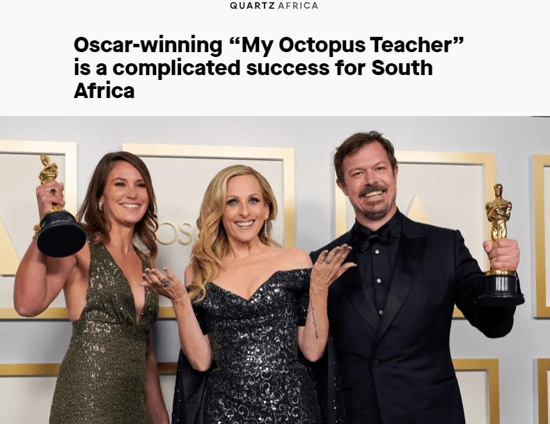 Oscar Winners, maker of the film