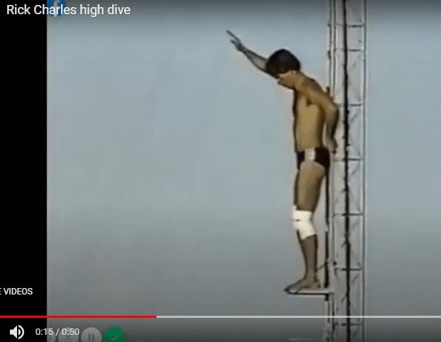 Rick Charles, High diver